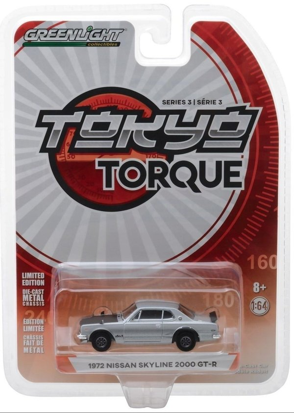 1972 Nissan Skyline 2000 GT-R - Greenlight 1:64 #47010-C