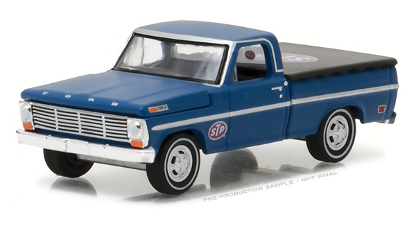 1969 Ford F-100 With Bed Cover - Greenlight 1:64 #41020-C