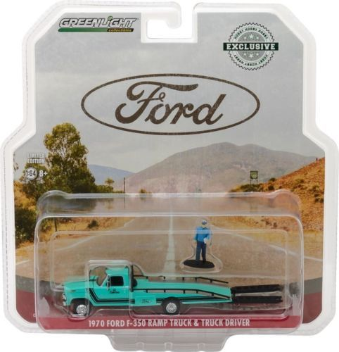 1970 FORD F-350 RAMP TRUCK - Greenlight 1:64 #29892