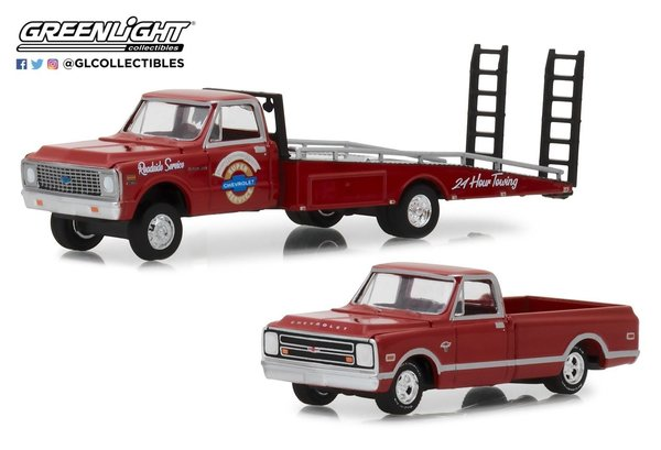 1971 Chevy C-30 Ramp Truck - Greenlight 1:64 #33140-A