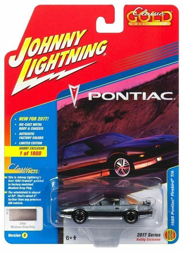 1985 Pontiac Firebird - Johnny Lightning 1:64 #JLCG011