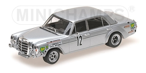 MERCEDES-BENZ 300 SEL 6.8 AMG - 12H PAUL RICARD 1971 Minichamps 1:43 400713412