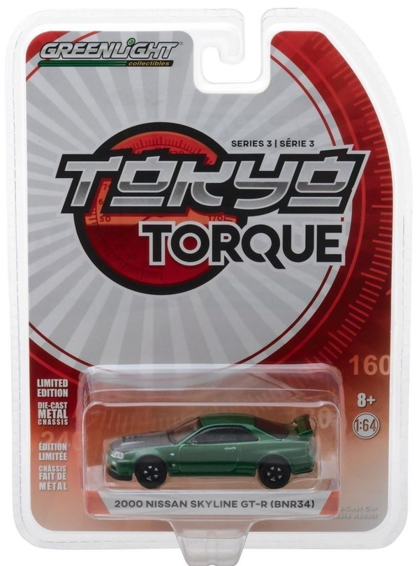 2000 Nissan Skyline GT-R - Greenlight 1:64 #47010-F