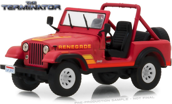 1983 JEEP CJ-7 RENEGADE - The Terminator - Greenlight 1:43 #86533