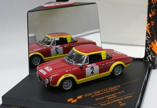Fiat 124 Abarth - Rally Portugal 1974 - Vitesse 1:43 #42440