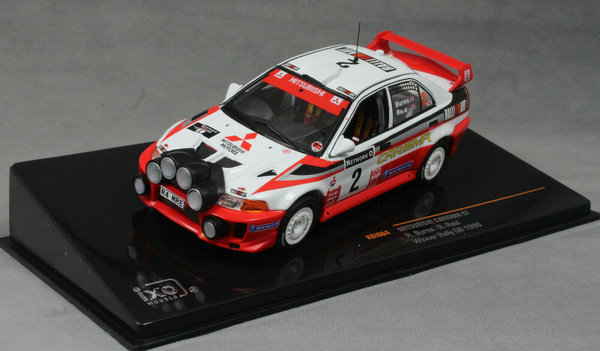 Mitsubishi Carisma GT (Lancer Evo 5) - Burns Rally GB 1998 - Ixo 1:43 #KB1064