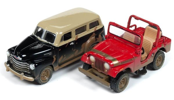 Off Road - Jeep/1950 Suburban - Johnny Lightning 1:64 #JLPK006