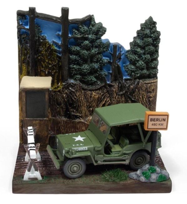 Checkpoint WWII Diorama - Willys MB Jeep - Johnny Lightning 1:64 #JLDS002