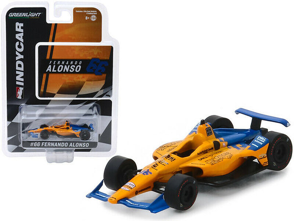 Mclaren Indycar 2019 - F. Alonso - Greenlight 1:64 #10845