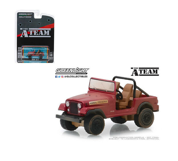 The A Team - Jeep CJ-7 - Greenlight 1:64 #44840-C