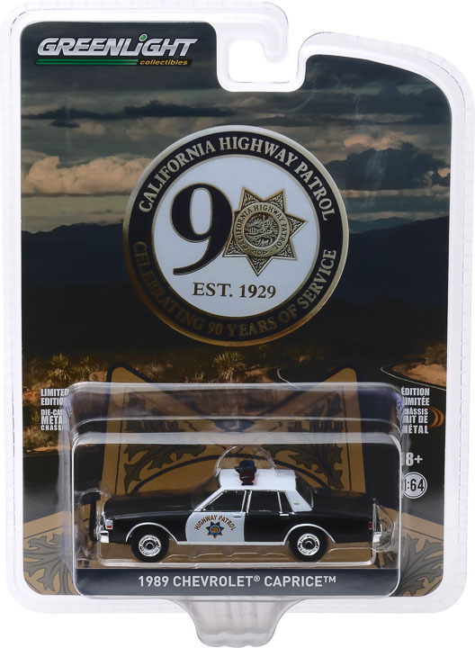 1:64 Anniversary Collection Series 10 - 1989 Chevrolet Caprice Police - California Highway Patrol 90