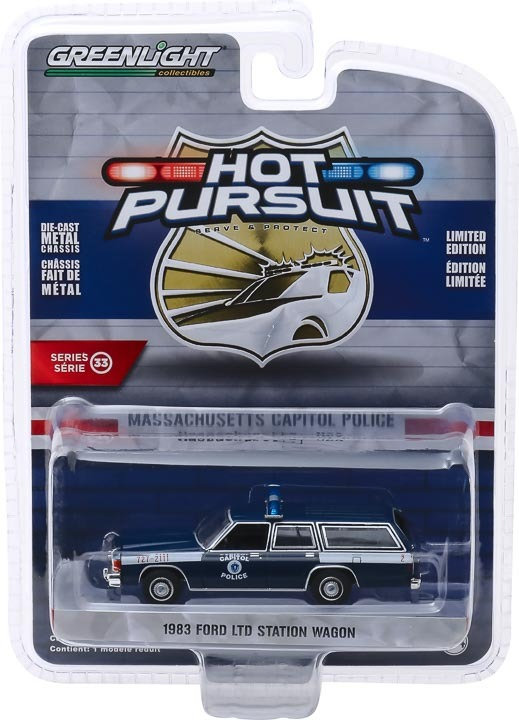 1:64 Hot Pursuit Series 33 - 1983 Ford LTD Station Wagon - Massachusetts Capitol Police 42900-A