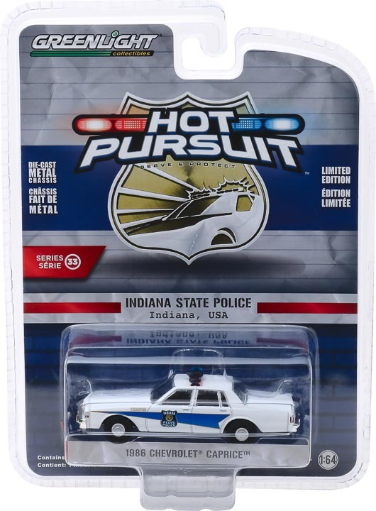 1:64 Hot Pursuit Series 33 - 1986 Chevrolet Caprice - Indiana State Police 42900-B