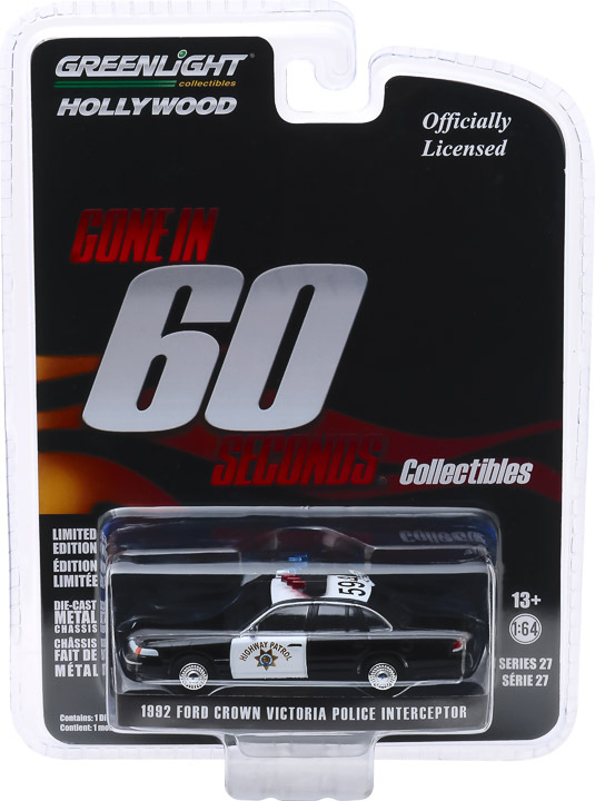 1:64 Hollywood Series 27 - Gone in Sixty Seconds (2000) 1992 Ford Crown Victoria Police Interceptor