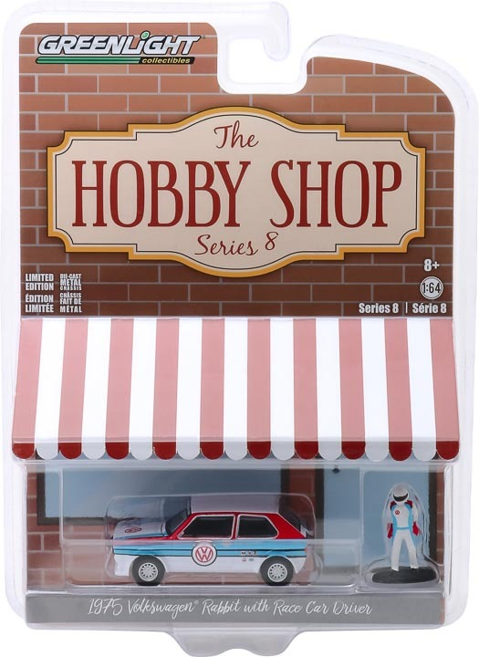 1:64 The Hobby Shop Series 8 - 1975 Volkswagen Rabbit Widebody with Race Car Driver 97080-B