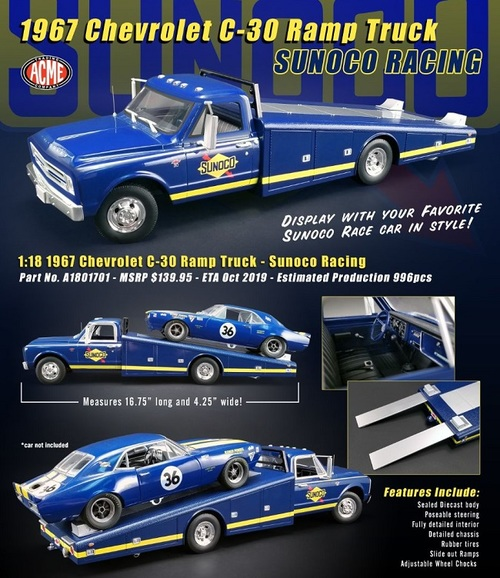 1967 CHEVROLET C-30 RAMP TRUCK - SUNOCO RACING acme1801701