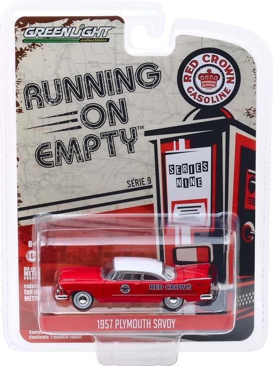 41090-A | 1:64 Running on Empty Series 9 - 1957 Plymouth Savoy - Red Crown
