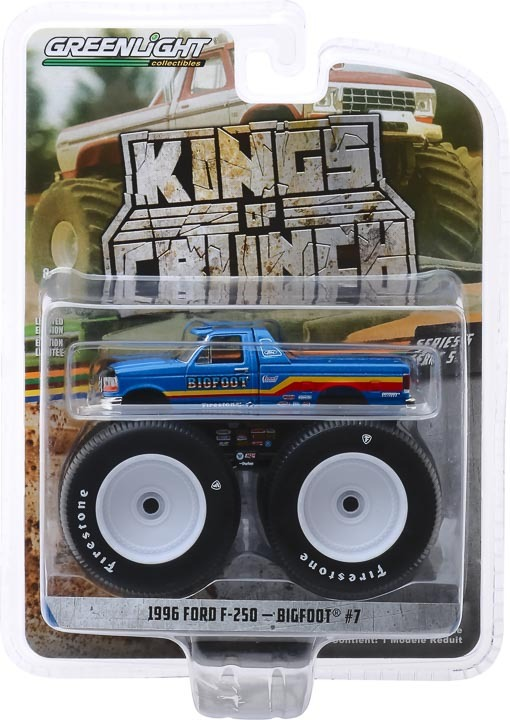 49050-F | 1:64 Kings of Crunch Series 5 - Bigfoot #7 - 1996 Ford F-250 Monster Truck