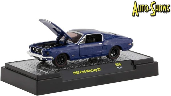 1968 Ford Mustang GT Kona Blue Metallic with Black Stripe