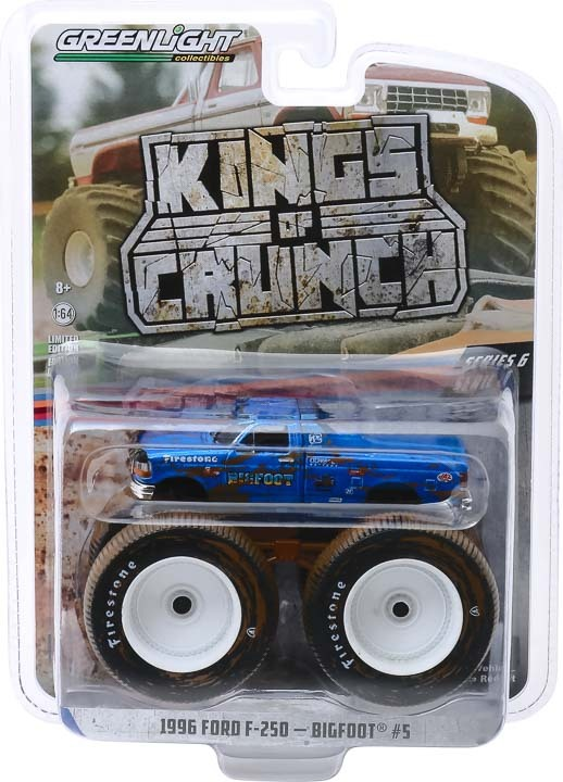 49060-F 1:64 Kings of Crunch Bigfoot #5 - 1996 Ford F-250 Monster Truck (Dirty Version)