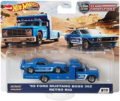 Hot Wheels 2020 Team Transport Release H - '69 Ford Mustang Boss 302 Retro Rig #19