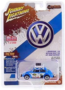 1970 Volkswagen Beetle Racing #736 1/64 Diecast Johnny Lightning JLCP7304