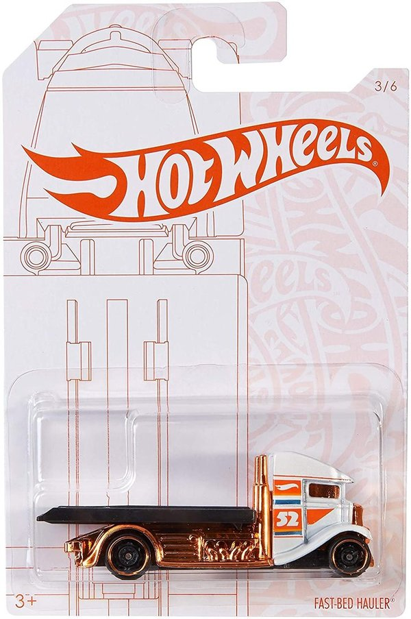 Hot Wheels 2020 Pearl and Chrome 3/6 - Fast Bed Hauler (White)