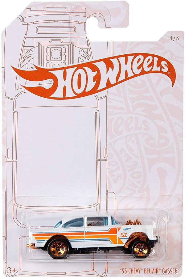 Hot Wheels GJW48 Pearl And Chrome '55 Chevy Bel Air Gasser