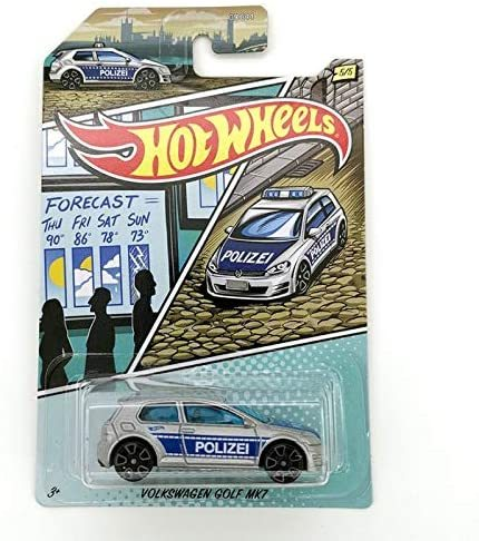 Police Collection VW Golf MK1 Hot Wheels GJV66 1:64