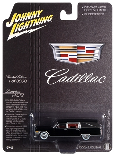 Johnny Lightning 1966 Cadillac Hearse 1:64 Scale Diecast