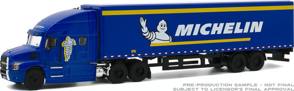 30185 | 1:64 2019 Mack Anthem 18 Wheeler Tractor-Trailer - Michelin Tires (Hobby Exclusive)