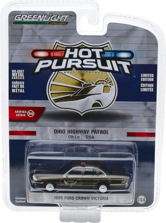 42910-E 1:64 Hot Pursuit 1995 Ford Crown Victoria Police Interceptor - Ohio Highway Patrol