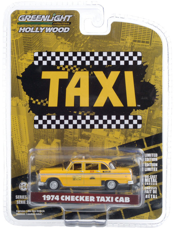 44890-C | 1:64 Hollywood Series 29 - Taxi 1974 Checker Taxi Sunshine Cab Company #804