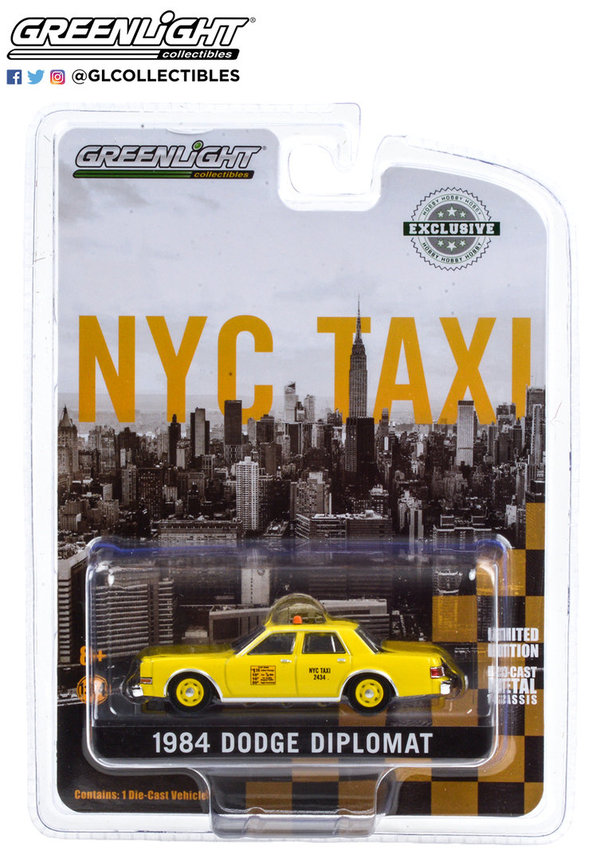 30199 | 1:64 1984 Dodge Diplomat - NYC Taxi (Hobby Exclusive)