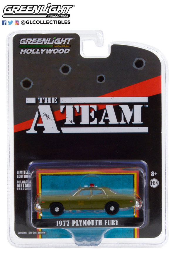 44865-A 1:64 Hollywood The A-Team 1977 Plymouth Fury U.S. Army Police