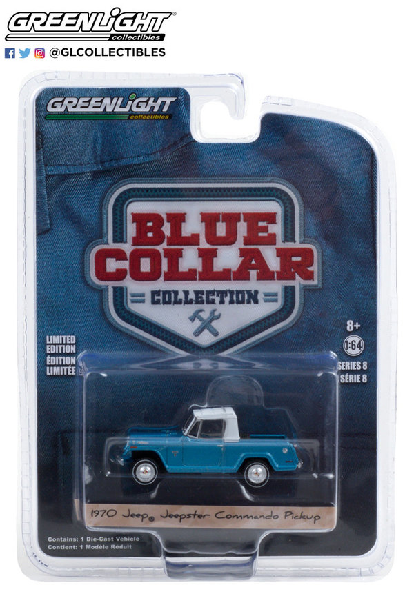 35180-B | 1:64 Blue Collar Collection Series 8 - 1970 Jeepster Commando Pickup