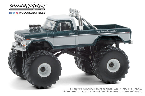 49080-D | 1:64 Kings of Crunch Series 8 - Texas Armadillo - 1979 Ford F-250 Monster Truck