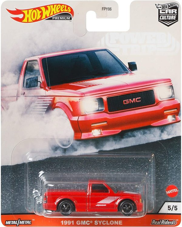 Hot Wheels GMC Syclone Vehicle Premium Collection Car Culture Favorites GJR01