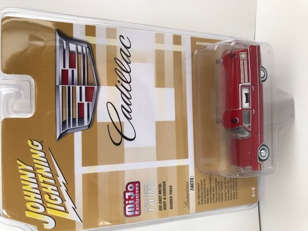 Johnny Lightning 1959 Cadillac Ambulance, red jlcp7351